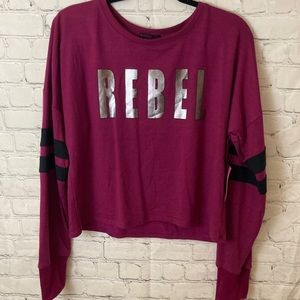 Material girl active graphic sweater